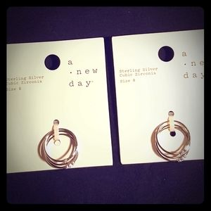 2 NWT STERLING SILVER 3 Ring Sets